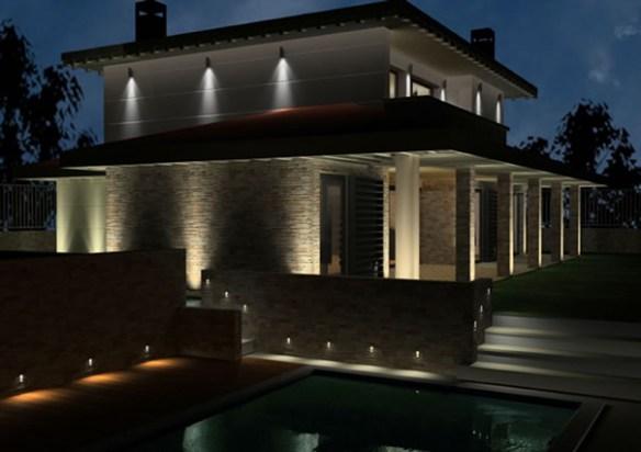 Iluminaci n de fachadas atractiva y eficaz - Iluminacion para casa ...