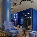 El color azul en la decoración de interiores