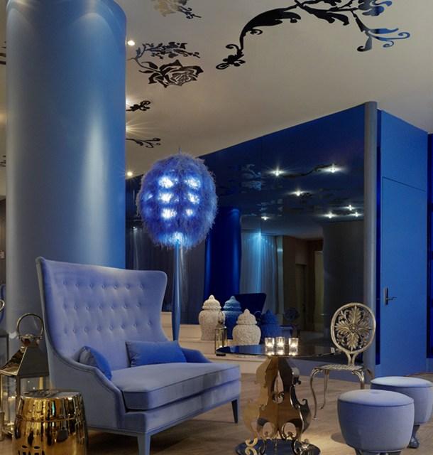 El color azul en la decoración de interiores