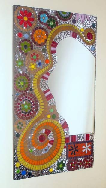 Mosaiquismo una forma de a adir textura y profundidad a - Manualidades espejos decorados ...