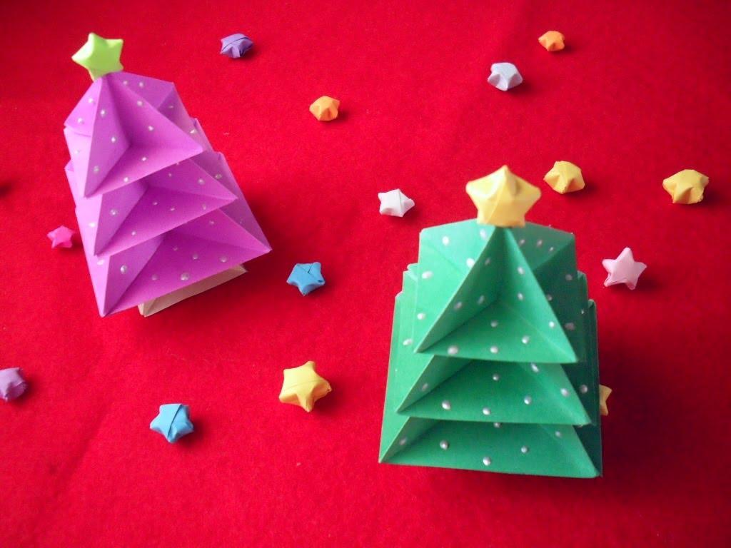 C mo hacer un rbol de navidad con cartulina - Arbol navidad cartulina ...
