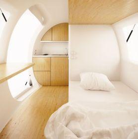 mini casas del futuro, la ecocápsula
