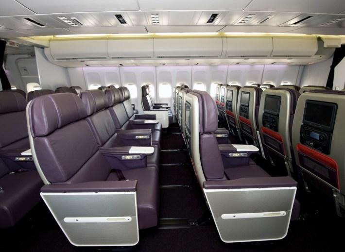 Virgin Atlantic 747 Premium Economy Cabin Section