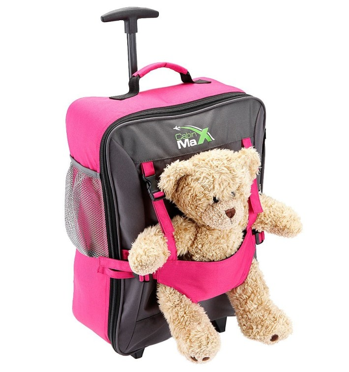 Pink Bear Bag The ideal suitcases for children