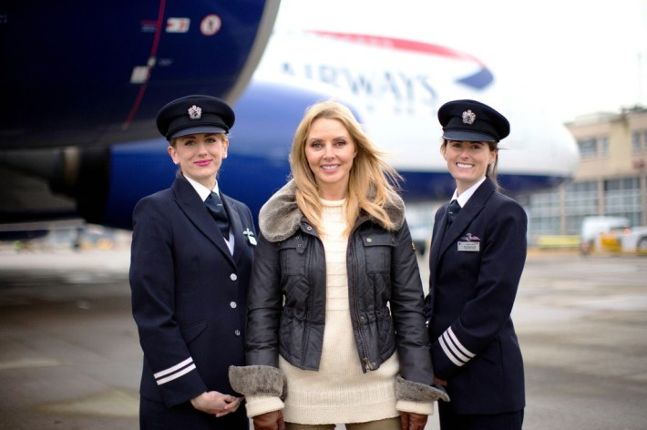 Carol Vorderman is backing call by British Airways for more women to become airline pilots