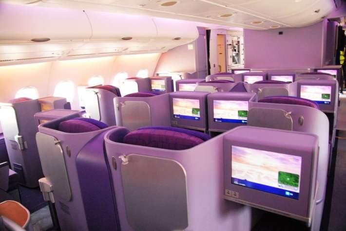 Thai Airways A380 Royal Business Class Cabin