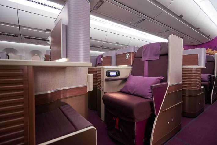 Thai Airways A350 Royal Silk Business class cabin seat