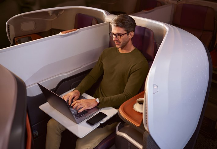 New Singapore Airlines Business Class seat