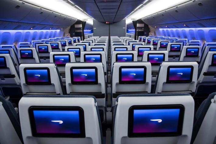 New BA economy seats and IFE on Boeing 777