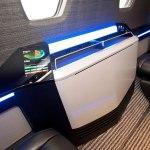 Cessna Citation Ten cabin features folded table