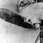 The Hindenburg burning