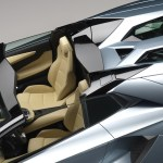 The new Lamborghini Aventador LP700-4 Roadster interior and rear deflector
