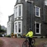 Leaving Bridge House in Moffat