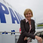 Panalpina CEO Monika Ribar takes delivery of first-Boeing 747-8 Freighter
