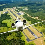 The Cessna Citation Ten Business Jet takes to the air
