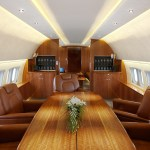 The VIP interior that will be installed in the new Boeing Business Jet will be similar to this concept image.