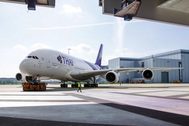 The first Airbus A380 for Thai Airways International