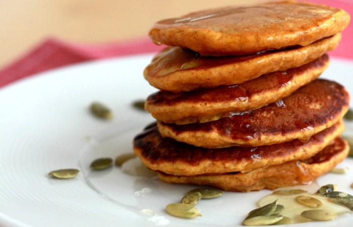 Clatite pancakes cu dovleac