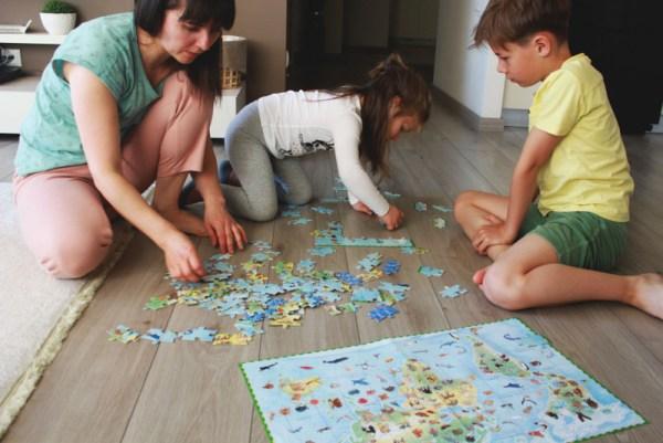 Harta lumii si animale pe continente