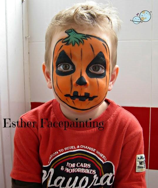 maquillaje, niños, calabaza