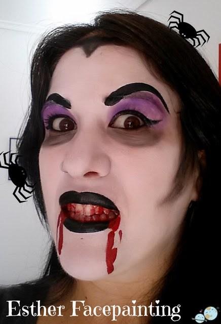 maquillaje halloween vampira