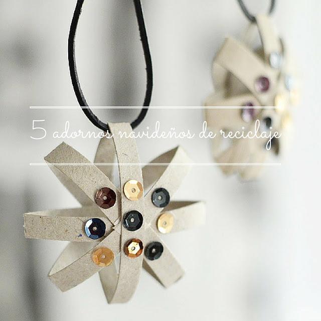 5 adornos navide os de reciclaje planeta mamy for Materiales para hacer adornos navidenos