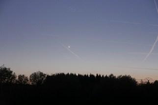 Vénus au dessus de l'horizon