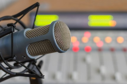 bigstock blue microphone and audio cons 77877953 300x199 - Types of Radio Station Jobs| Radio Station Staff & Personnel
