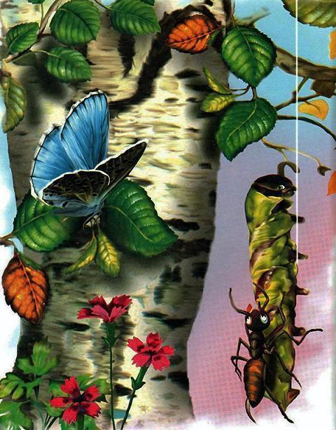 муравей и гусенница