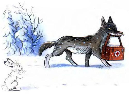доктор Айболит волк с аптечкой