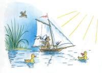 кораблик утята озеро
