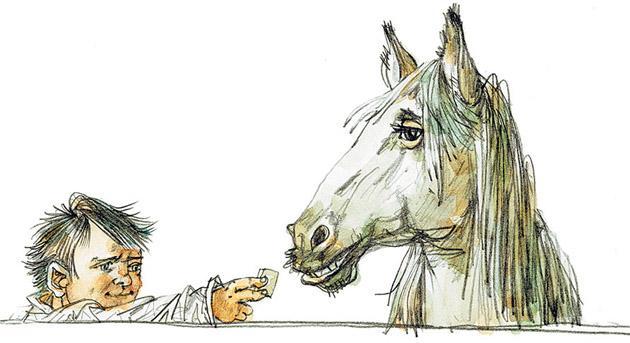 Очень умная лошадь