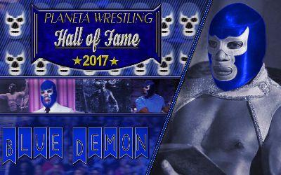 Blue Demon Jr. al Planeta Wrestling Hall of Fame 2017