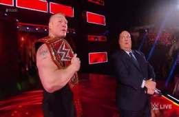 Brock Lesnar regresó a RAW 18 Diciembre