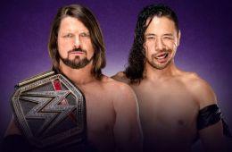 Wrestlemania 34 AJ Styles vs Shinsuke Nakamura