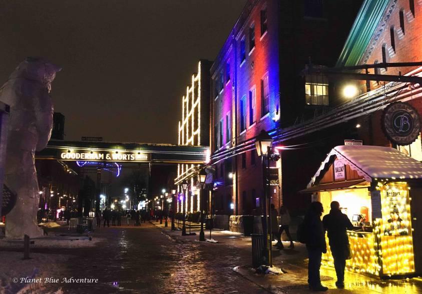 Toronto light fest Distillery District