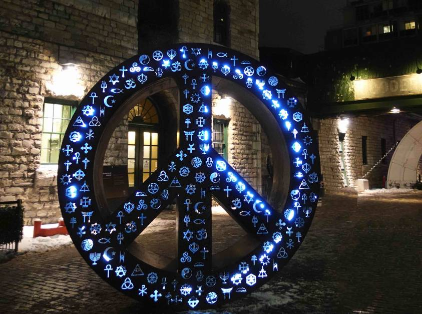 Toronto Light Fest Mayan Wheel
