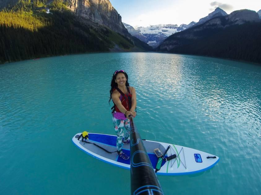 Women inspiring Women Diana Lee Lake Louise SUP