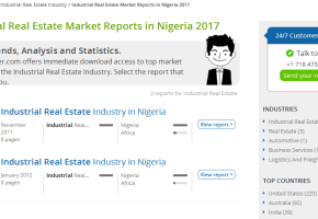 Industrial Real Estate Market Reports in Nigeria 2017