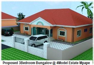 Simple Modern Bedroom Flat Plan In Nigeria Duashadicom With Bungalow House Plans