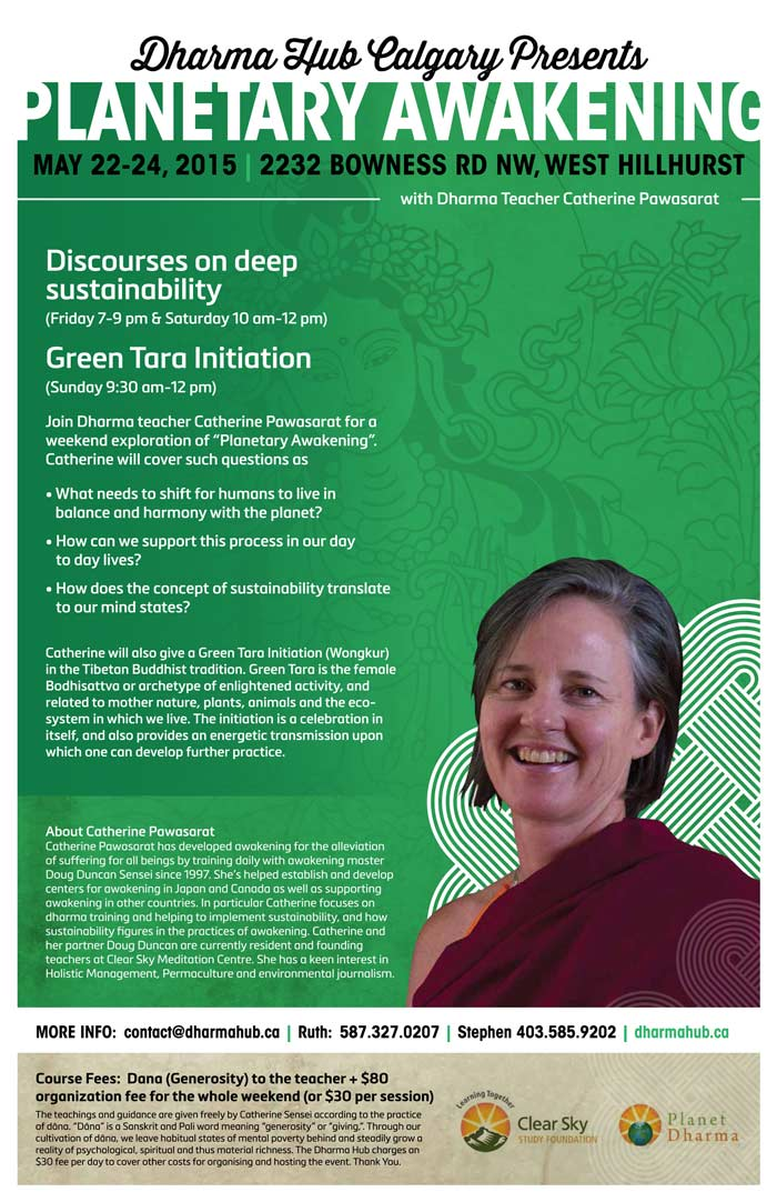 Catherine Pawasarat Dharma Teaching in Calgary: Green Tara