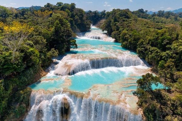 Agua Azul Mexico dharma trip