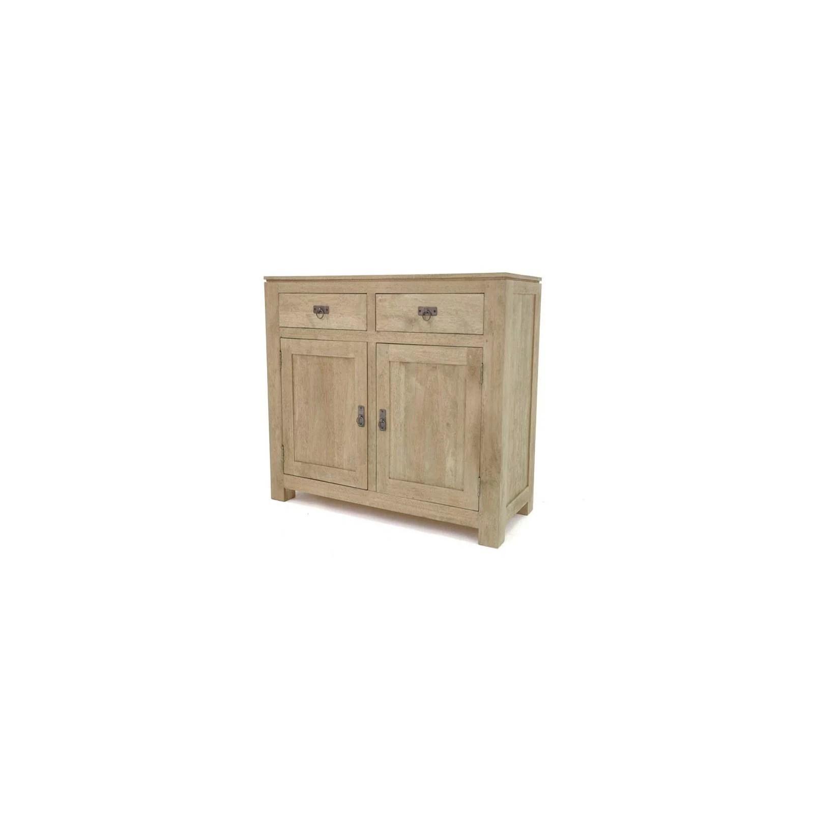 buffet bas bois massif meuble bas