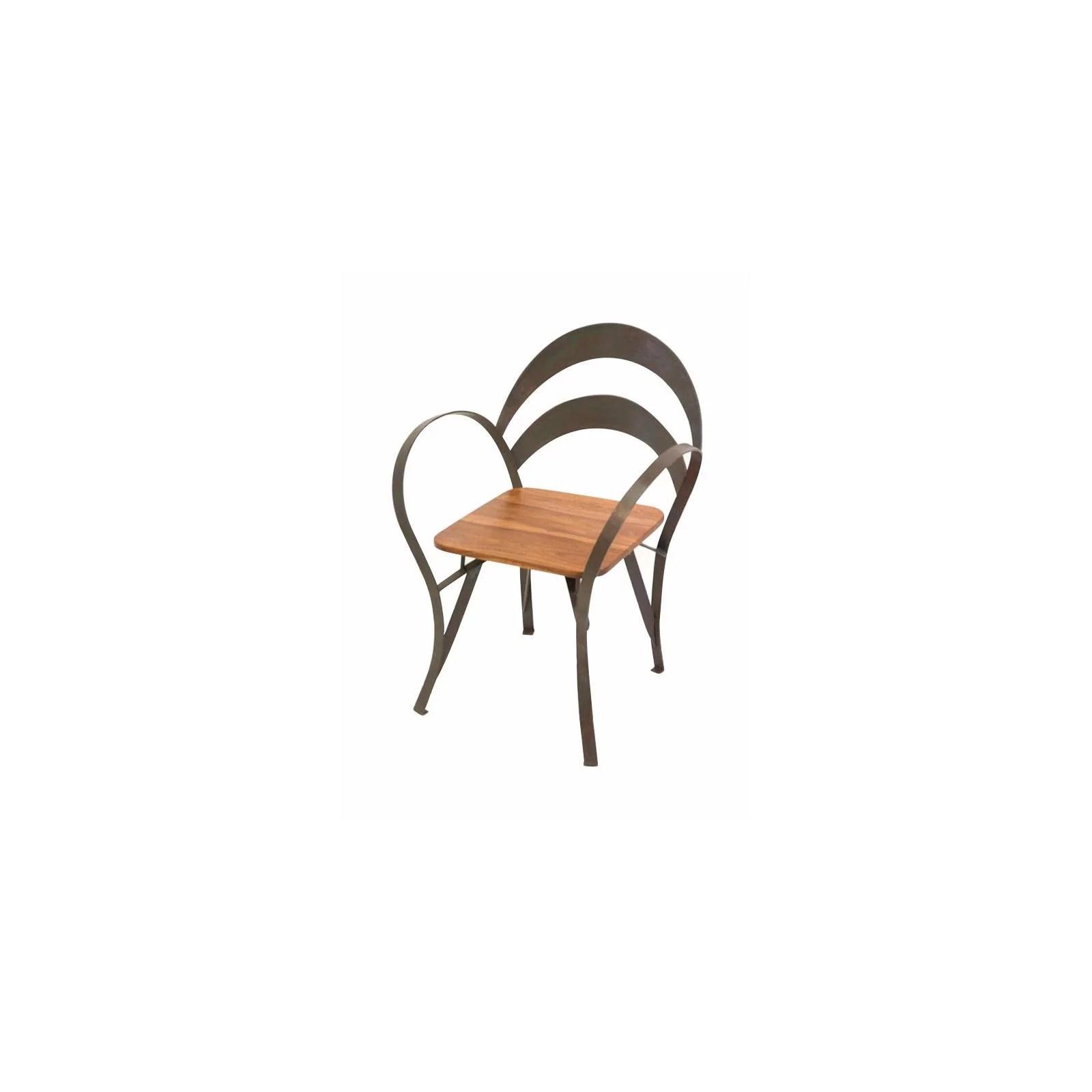 chaise fer forge et palissandre loft