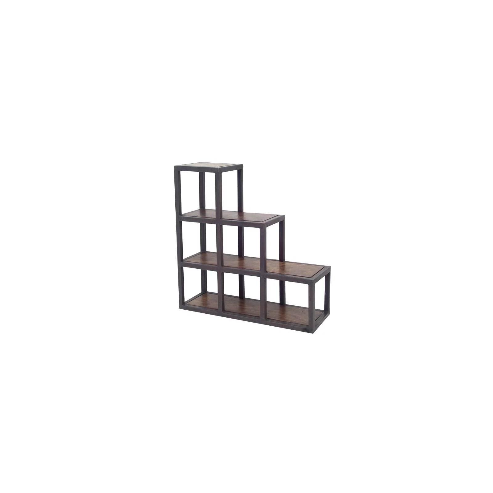 meuble escalier metal et palissandre loft
