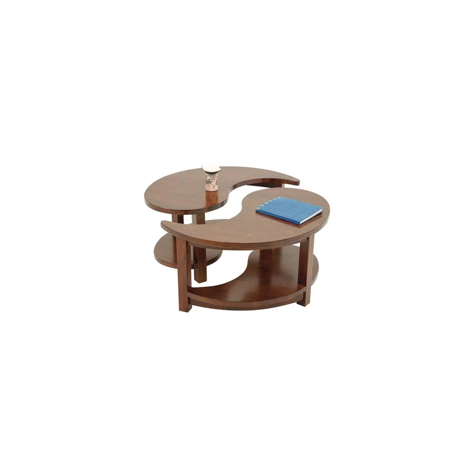 table basse yin yang chine hevea