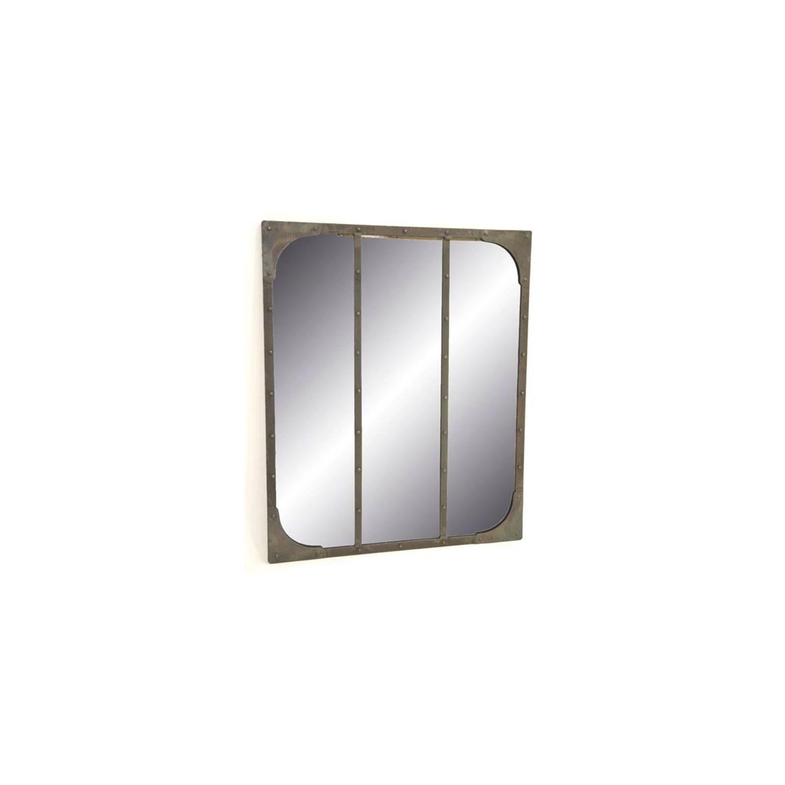 miroir industriel fer forge loft