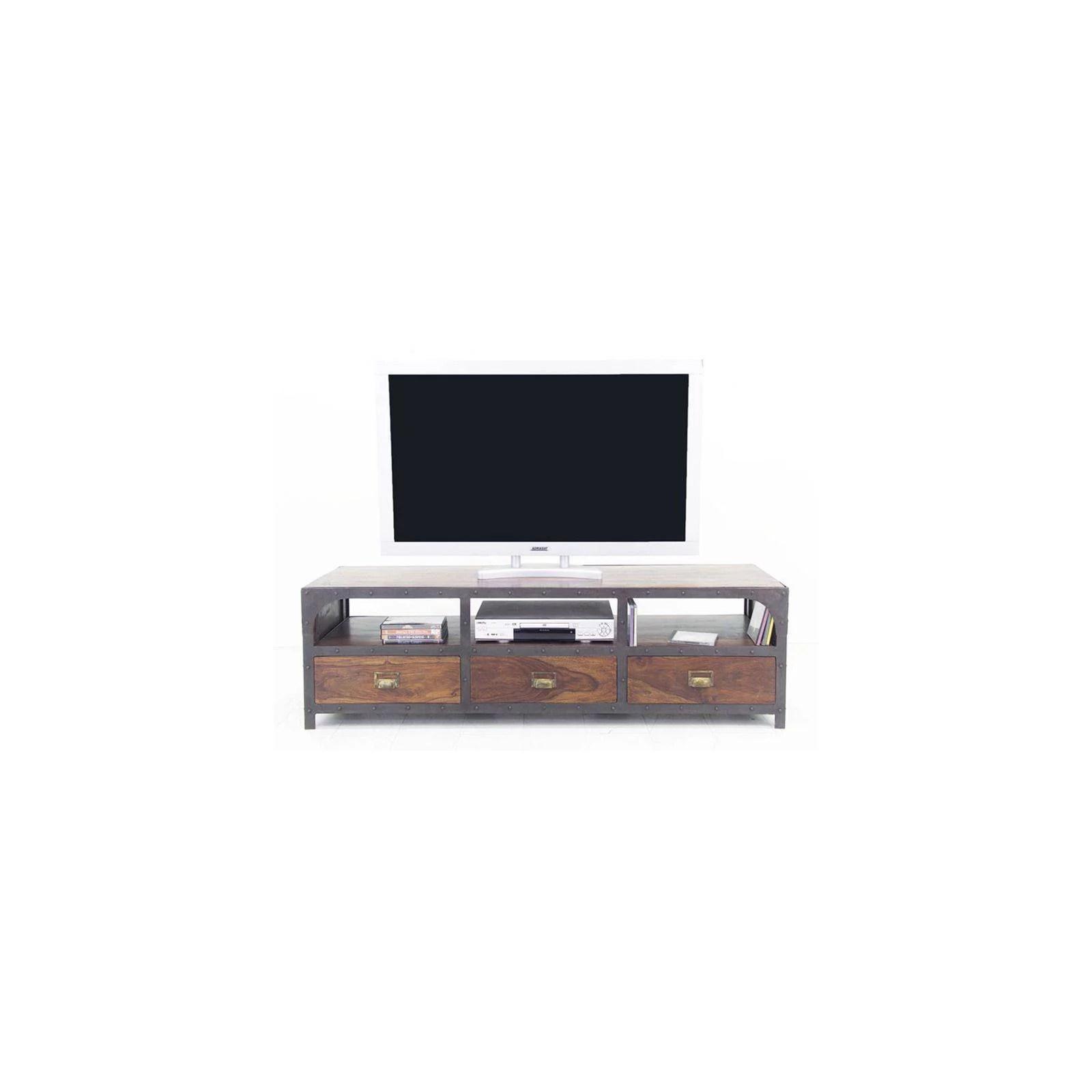 meuble tv industriel palissandre loft