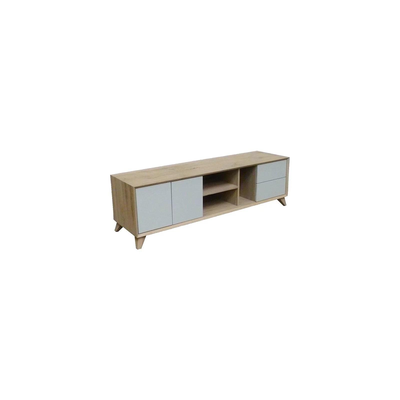 meuble tv scandinave chene