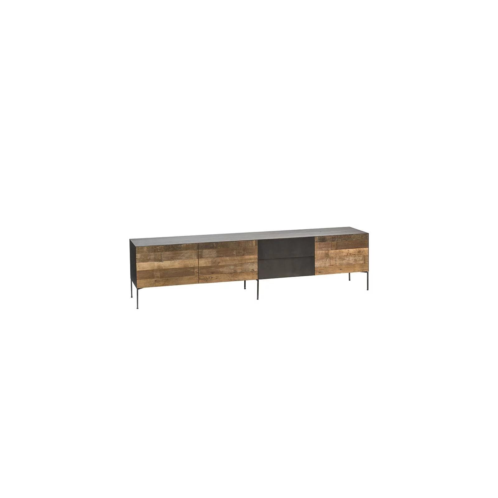meuble tv bas gm designer teck recycle